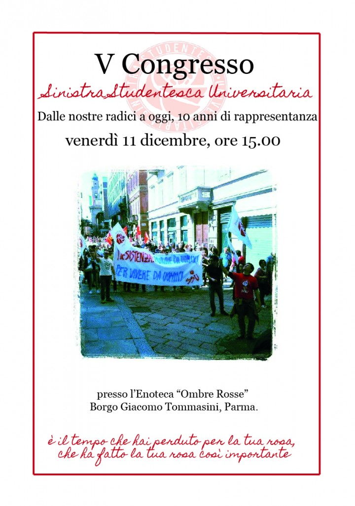 V° congresso Sinistra Studentesca Universitaria